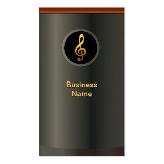 Cartão de visita profissional do símbolo de música