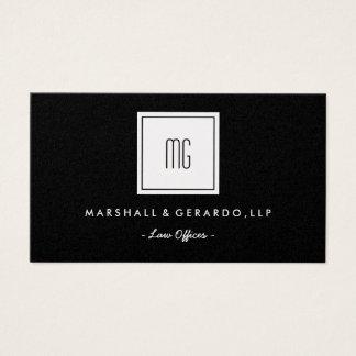 Cartão de visita profissional dos escritórios do