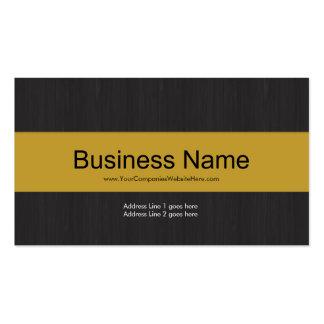 Cartão de visita profissional escuro & amarelo