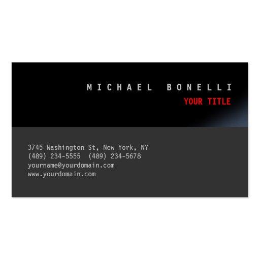 Cartão de visita profissional estético cinzento