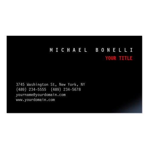 Cartão de visita profissional estético preto