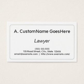 Cartão de visita profissional & limpo do advogado