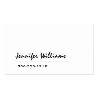 Cartão de visita profissional minimalista branco l