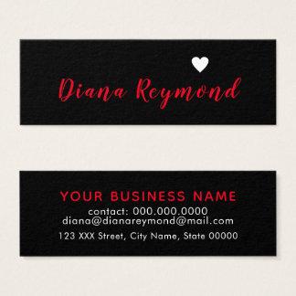 cartão de visita profissional preto com coração