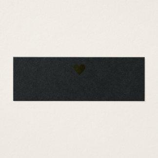 cartão de visita profissional preto com coração do