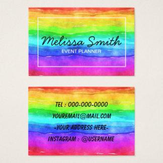 Cartão de visita projetado simples do arco-íris