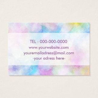 Cartão de visita projetado simples roxo de