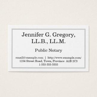 Cartão de visita público simples & minimalista do