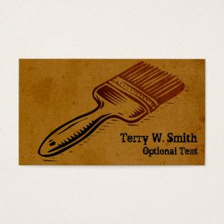Cartão de visita queimado da escova de pintura