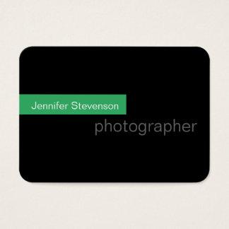 Cartão de visita redondo verde preto carnudo da