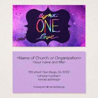 Cartão de visita religioso do amor da luz uma