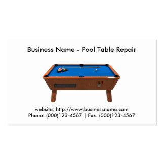 Cartão de visita: Reparo da mesa de bilhar
