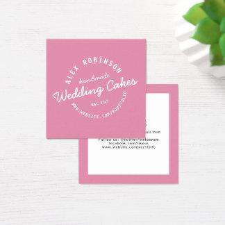 Cartão de visita retro cor-de-rosa da padaria do