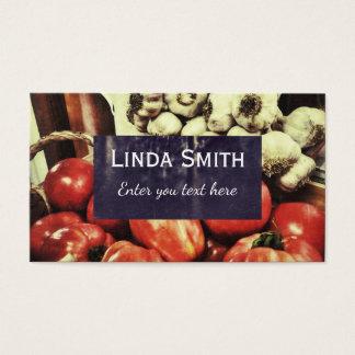 Cartão de visita retro da cozinha