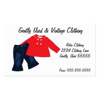 Cartão de visita retro da roupa