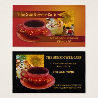 Cartão de visita retro de Café e de padaria