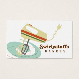 Cartão de visita retro do cozinhar do cozimento do
