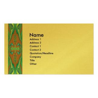 Cartão de visita retro do design da arte abstracta