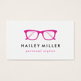 Cartão de visita retro do na moda dos Eyeglasses
