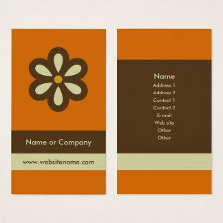 Cartão de visita retro moderno/cartão social dos