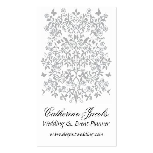 Cartão de visita romance floral