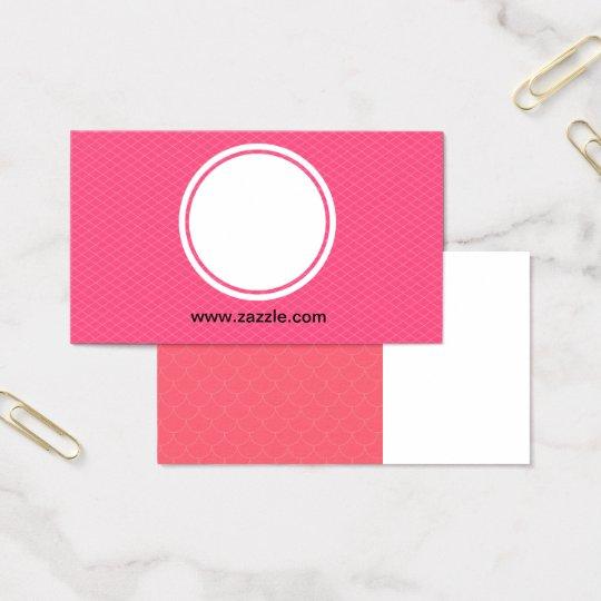cartão de visita rosa discreto