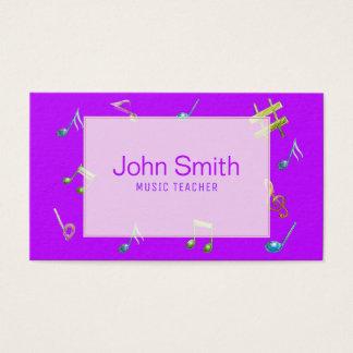 Cartão de visita roxo cor-de-rosa moderno do