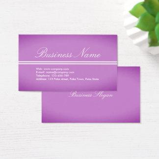 Cartão de visita Roxo-Cor-de-rosa profissional