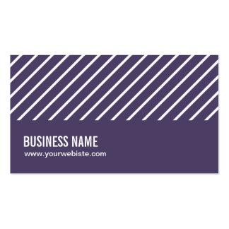 Cartão de visita roxo de Snowshoeing das listras m