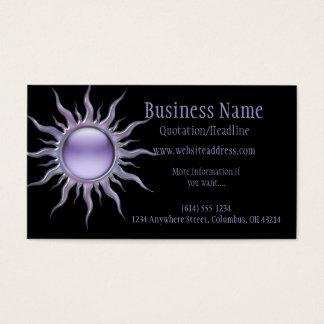 Cartão de visita roxo de Sun 2