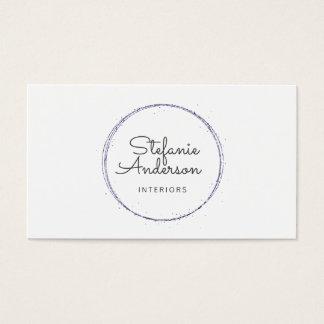 Cartão de visita roxo moderno do brilho