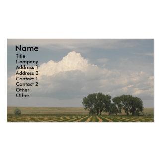 Cartão de visita rural da foto da paisagem