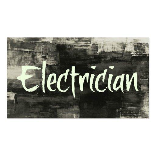 Cartão de visita rústico do eletricista