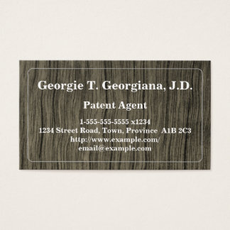 Cartão de visita rústico e conservador do agente