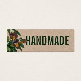 Cartão de visita rústico Handmade da flor do