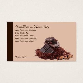 Cartão de visita saboroso do profissional do tema