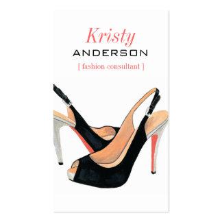 Cartão de visita Sassy dos calçados