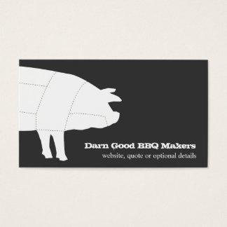 Cartão de visita seccionado do porco do CHURRASCO