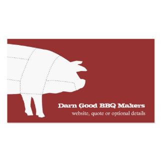 Cartão de visita seccionado do vermelho do porco d