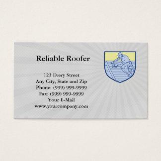 Cartão de visita seguro do Roofer