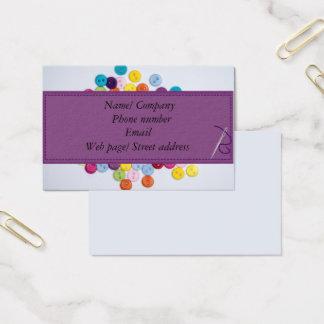 Cartão de visita sewing 8,5 cm x 5.5cm do botão