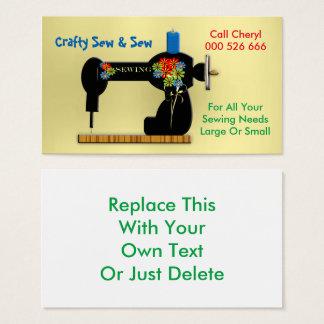 Cartão de visita Sewing Handmade da costureira dos
