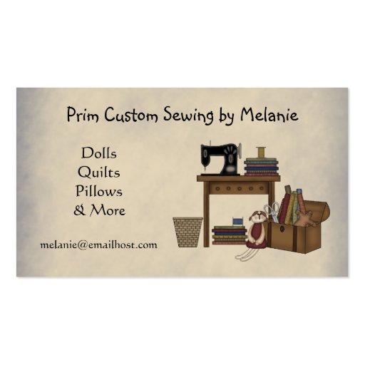 Cartão de visita Sewing rústico das artes