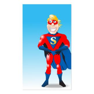 Cartão de visita Shell do super-herói
