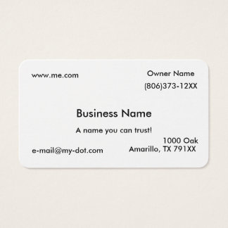 Cartão de visita simples