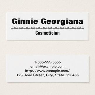 Cartão de visita simples & corajoso do Cosmetician