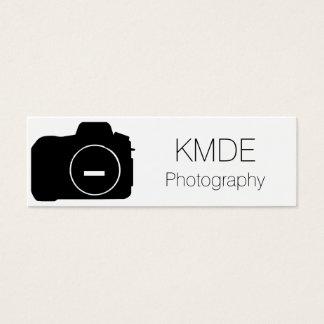 Cartão de visita simples da fotografia