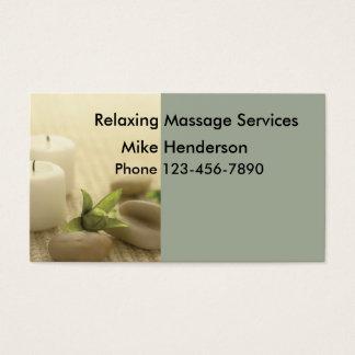 Cartão de visita simples da massagem