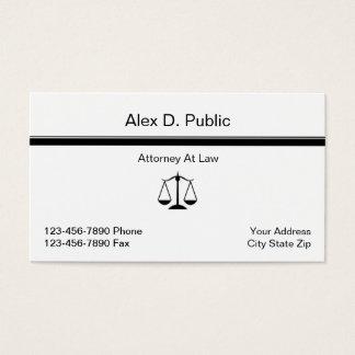 Cartão de visita simples do advogado