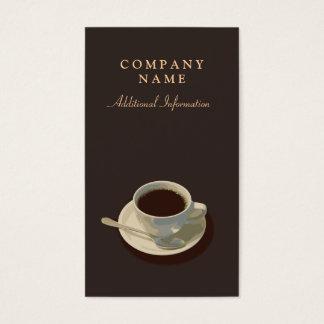Cartão de visita simples do copo de café